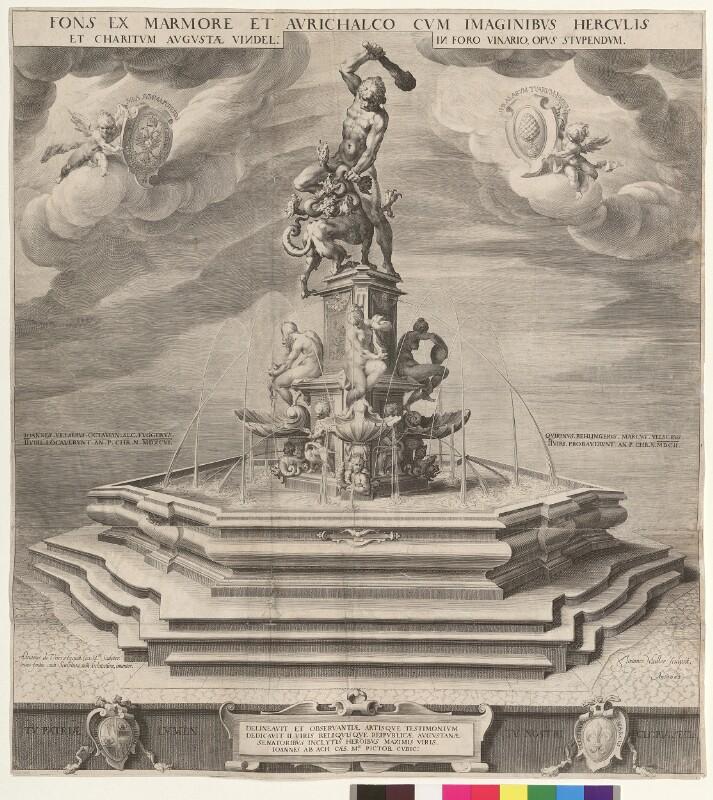 Fons ex Marmore et Aurichalco cum imaginibus Herculis et charitum Augustae Vindel. in Foro Vinario, opus stupendum von Muller, Jan