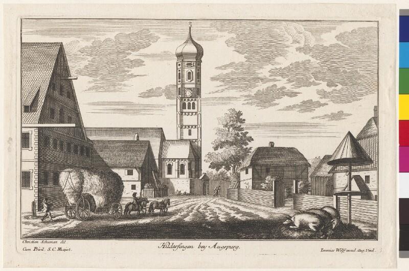 Hildesfingen bey Augsburg von Wolf, Jeremias
