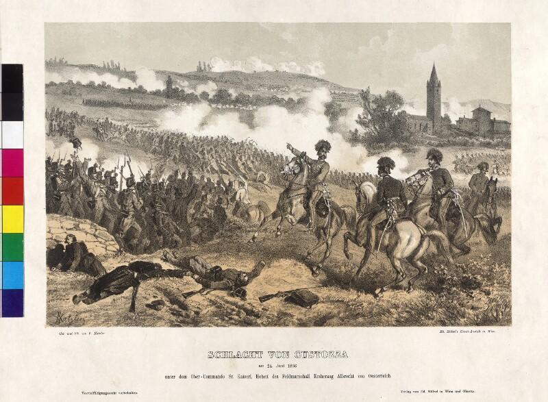 Die Schlacht bei Custozza am 24. Juni 1866 von Katzler, Vinzenz