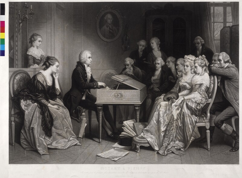 Mozart in Wien von Hamman, Edouard