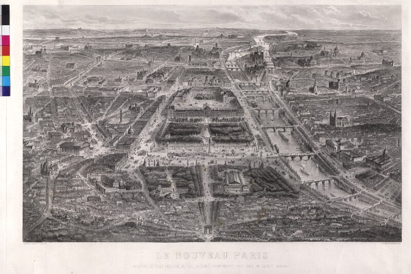 Panorama von Paris von Guesnu, Hilaire