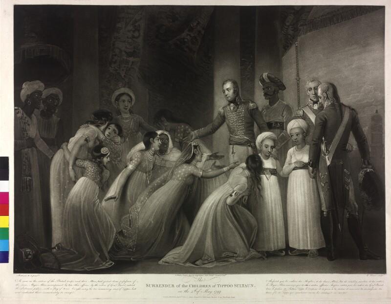 Die Kapitulation der Söhne von Sultan Tipu (Tippoo) von Stothard, Thomas