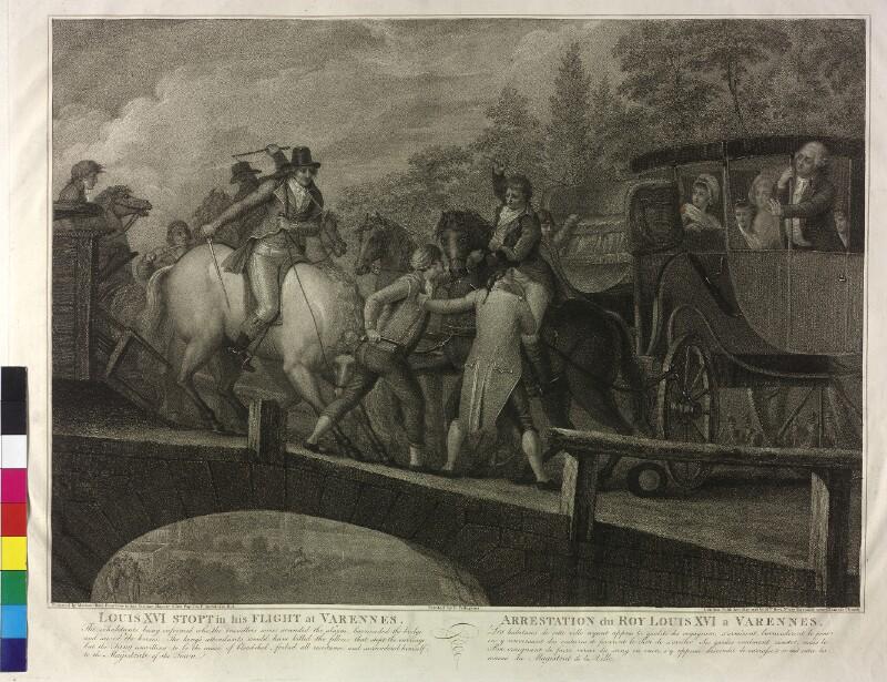 Die Flucht Ludwig XVI. wird in Varennes gestoppt von Bovi, Marino