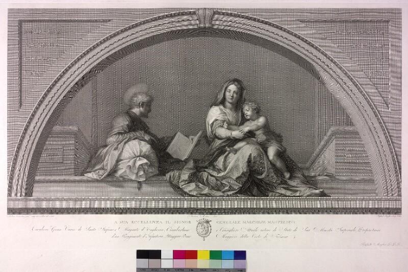 Maria mit Kind und heiligem Joseph (Madonna del Sacco) von Morghen, Raphael