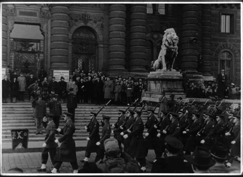 Alliierte Wachablöse Sowjetunion - USA von Hilscher, Albert
