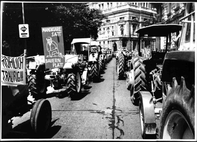 Bauerndemonstration von Hilscher, Albert