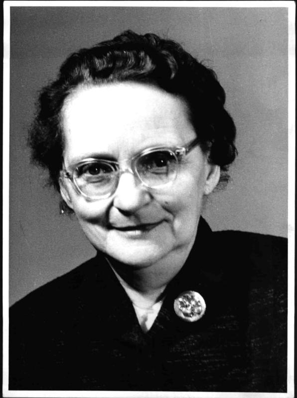 Die Abgeordnete der SPÖ zum Nationalrat Wilhelmine Moik von Blaha, Franz