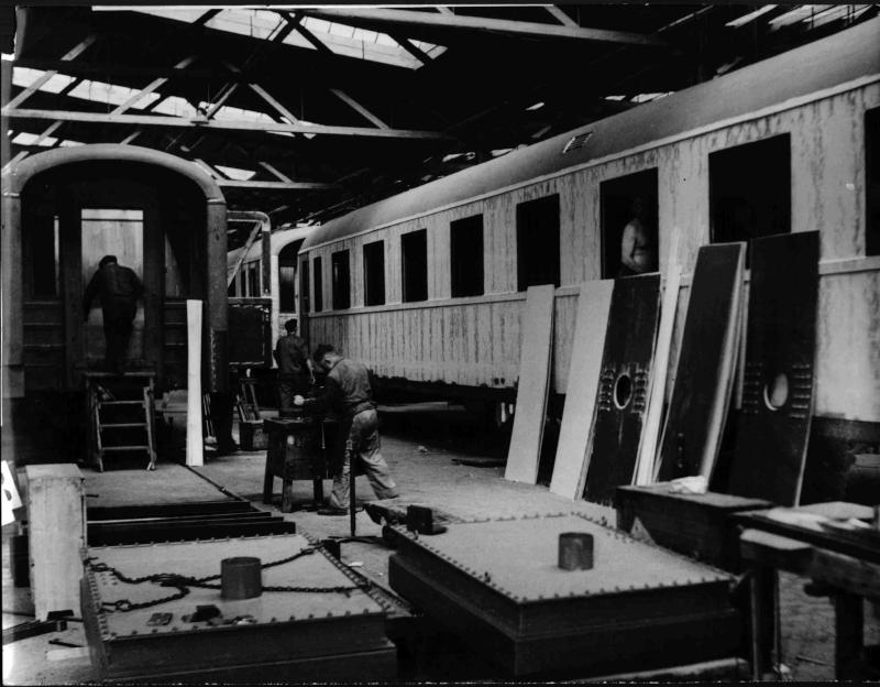 In der SGP Waggonfabrik von Blaha, Franz