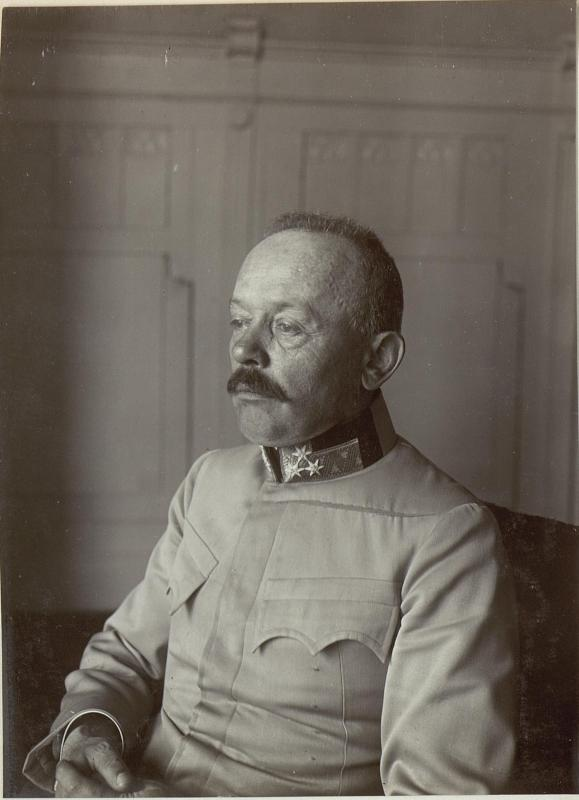 Feldmarschall Svetozar Boroevic von Bojna, General der Infanterie, Kommandeur der 5. Armee, Halbprofil des Oberkörpers von K.u.k. Kriegspressequartier, Lichtbildstelle - Wien