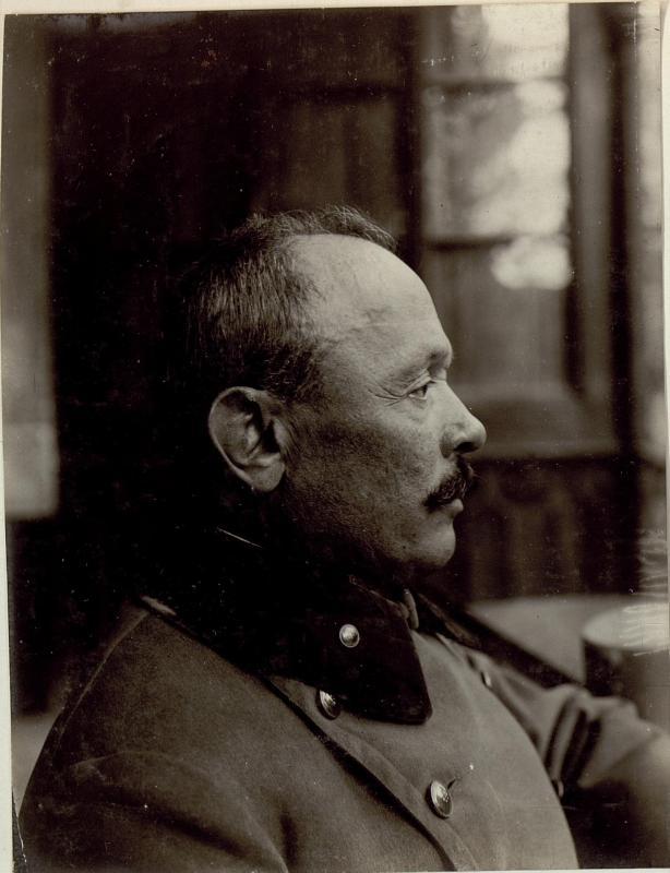 Feldmarschall Svetozar Boroevic von Bojna, General der Infanterie, Kommandeur der 5. Armee, Profilaufnahme des Gesichts von K.u.k. Kriegspressequartier, Lichtbildstelle - Wien