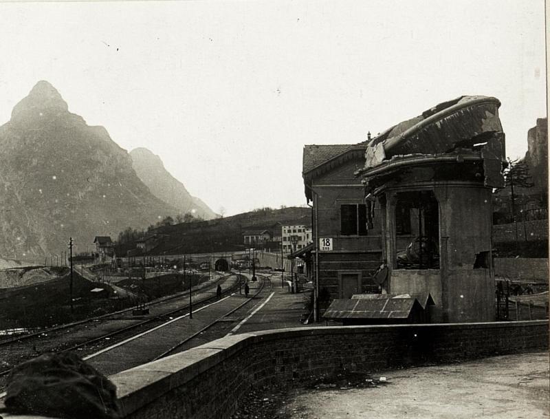 Bahnhof Longarone  von K.u.k. Kriegspressequartier, Lichtbildstelle - Wien