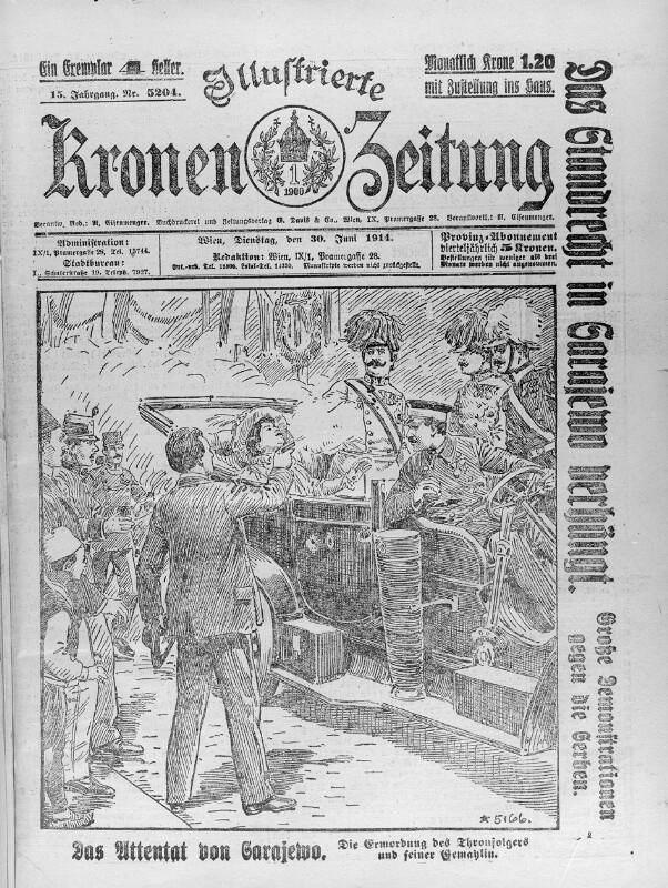 Ermordung des Thronfolgerpaares in Sarajewo