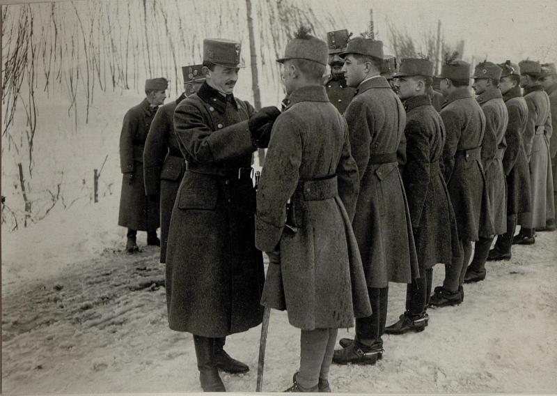 Kaiser Karl I. besucht Calliano, 16.1.1917 von K.u.k. Kriegspressequartier, Lichtbildstelle - Wien