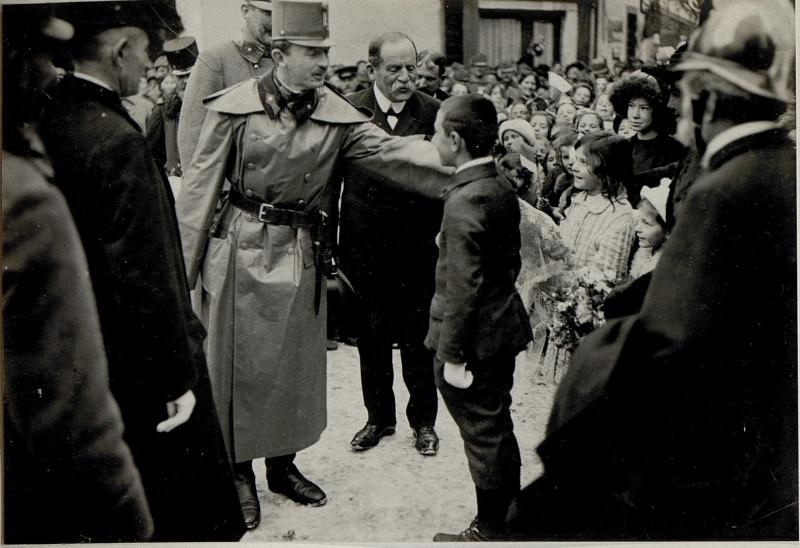 Kaiser Karl I. in Pergine, 17.1.1917 von K.u.k. Kriegspressequartier, Lichtbildstelle - Wien