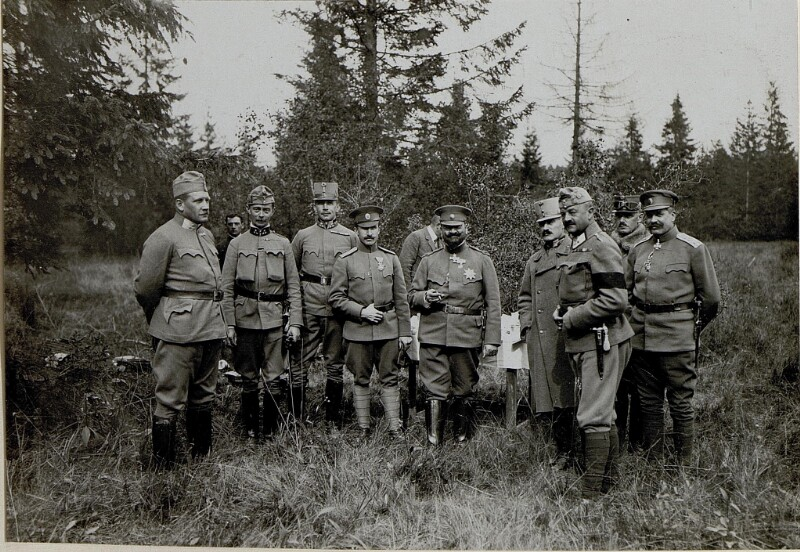 Frontbesuch des bulgarischen Zaren Ferdinand I., das Gefolge des bulgarischen Herrschers von K.u.k. Kriegspressequartier, Lichtbildstelle - Wien