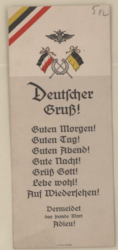 Propagandakarte Deutscher Gruß Kleinstgrafik Europeana