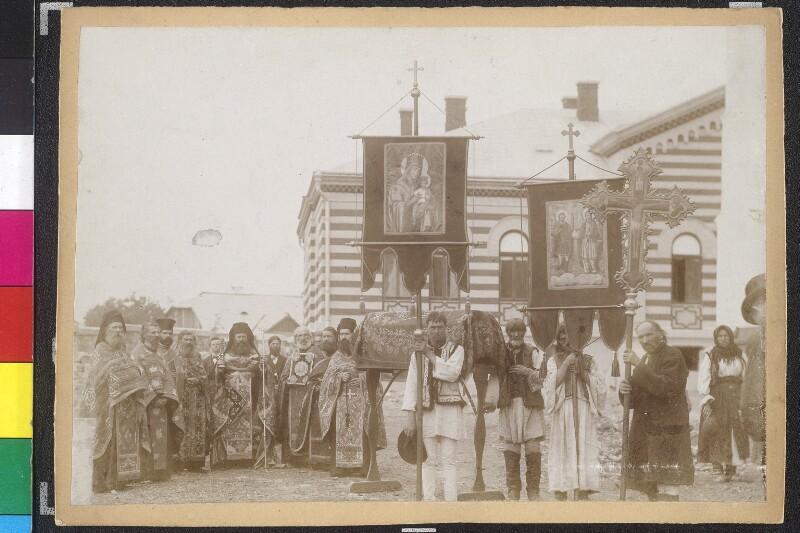 Sandzenifeier in Suczawa - Prozession mit den Reliquien des Heiligen Johannes Novi von Chrzanowski, J.