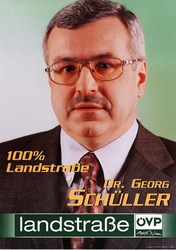 Österreichische Nationalbibliothek - Gemeinderatswahl Wien 2001: Dr. Georg Schüller. 100% Landstraße - 15948548