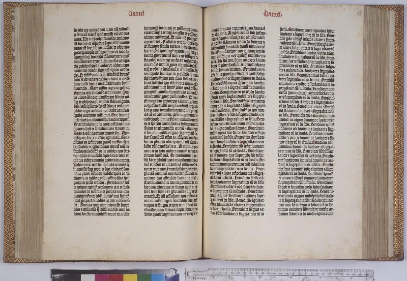 Gutenbergbibel um 1454. Buch Daniel