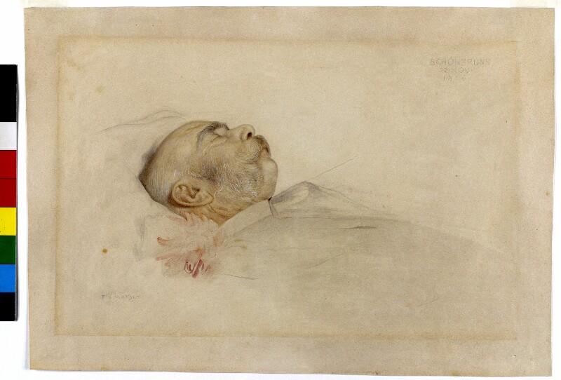 Kaiser Franz Joseph I. auf dem Totenbett von Matsch, Franz von