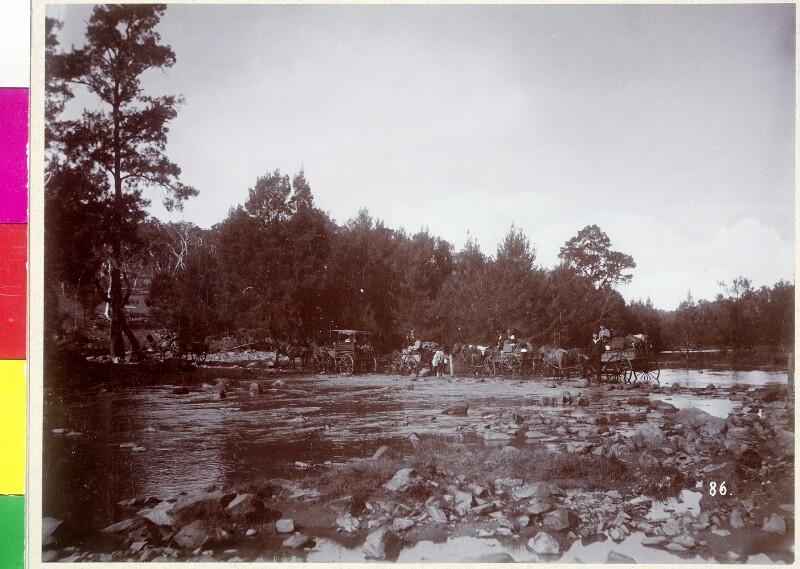 """Australien. """"Durch den Wallendelly River"""" von Pietzner, Carl"""