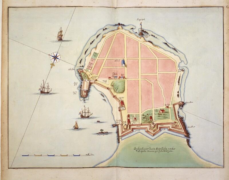 Befestigungsplan der Stadt Galle von Vingboons, Johannes