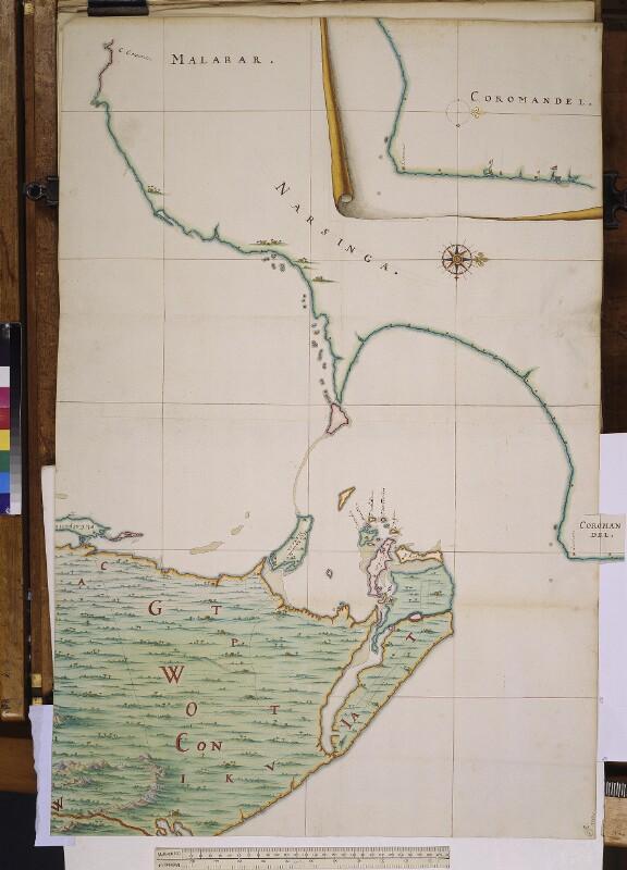 Landkarte der Palkstraße und des Golfs von Mannar von Vingboons, Johannes