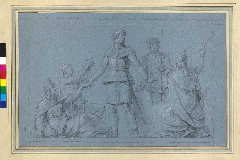 Rudolf von Habsburg lehnt das Anerbieten zu einem Kreuzzug nach Palästina ab von Füger, Heinrich Friedrich