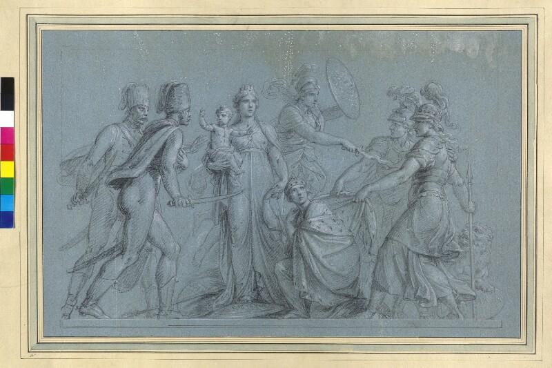 Kaiserin Maria Theresia rettet mit Hilfe der Ungarn den Thron von Füger, Heinrich Friedrich