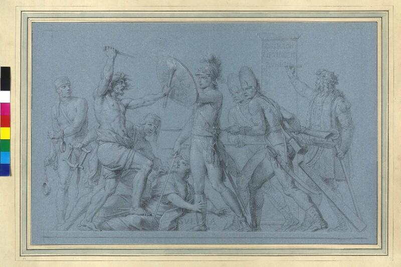 Erzherzog Karl rettet Schwaben vor den Neufranken von Füger, Heinrich Friedrich
