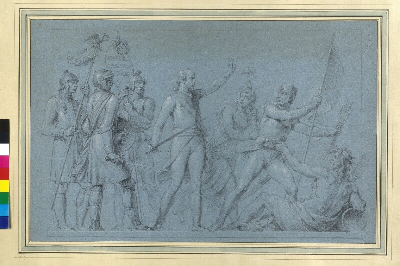 Erzherzog Karl schlägt die Franzosen über den Rhein von Füger, Heinrich Friedrich