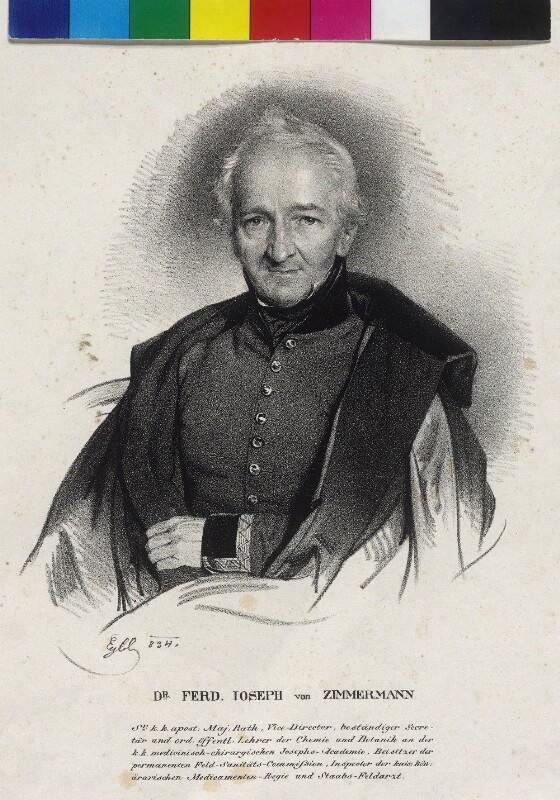 Bildnis Zimmermann, Ferdinand Josef Edler von von Eybl, Franz