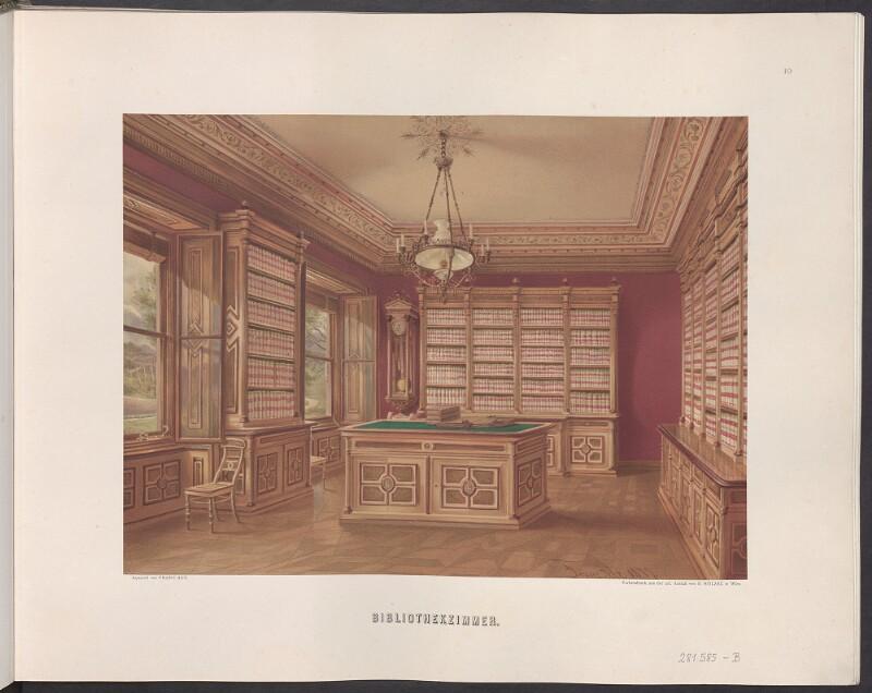 Schloss Hernstein - Bibliothek von Alt, Franz