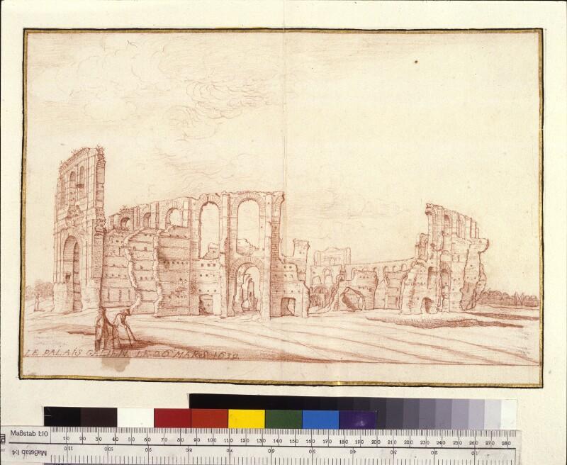 Amphitheater von Bordeaux, vom Osten aus gesehen von Hem, Hermann van der