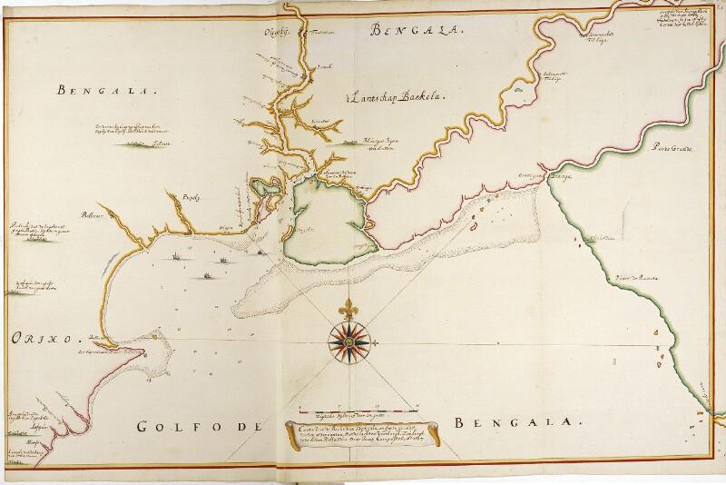 Karte der Gangesmündungen von Vingboons, Johannes