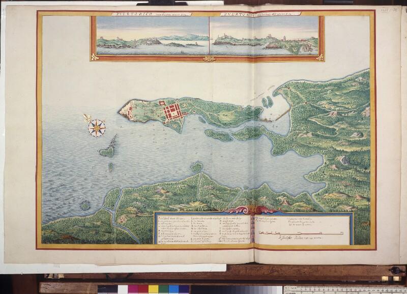 Landkarte der Bucht von San Juan (Puerto Rico) von Vingboons, Johannes