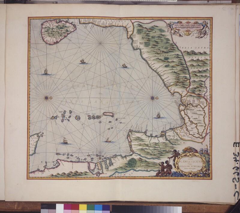 Landkarte der Bucht von Bengalen von Janssonius, Johannes