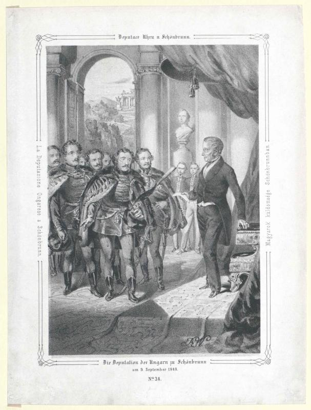 Die Deputation der Ungarn zu Schönbrunn am 9. September 1848 von Katzler, Vinzenz