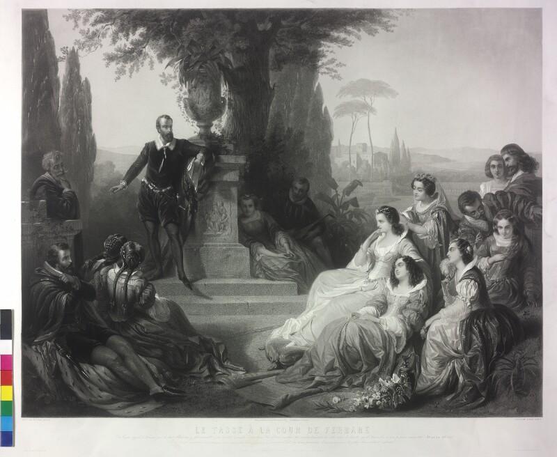 Torquato Tasso am Hof von Ferrara von Ender, Eduard