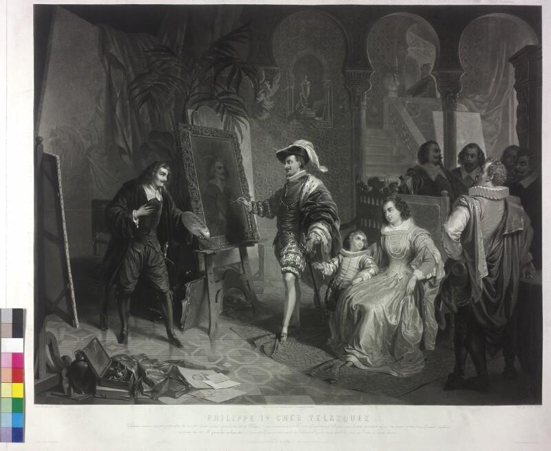 Der spanische König Philipp IV. bei Velázquez von Ender, Eduard