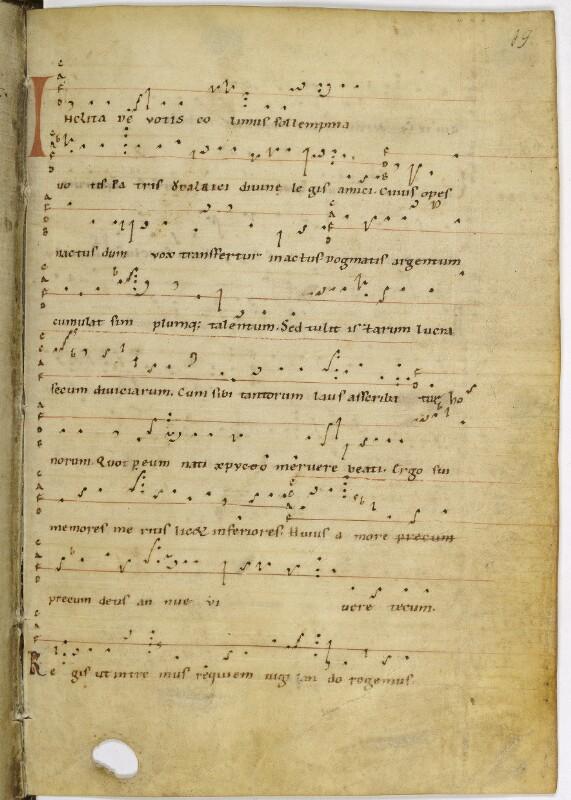 Cod. 573, fol. 19r: Berno von Reichenau: Leben des hl. Ulrich