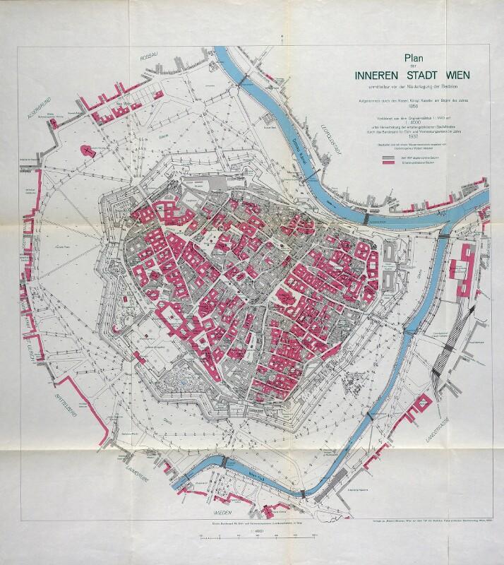 Plan der Stadt Wien