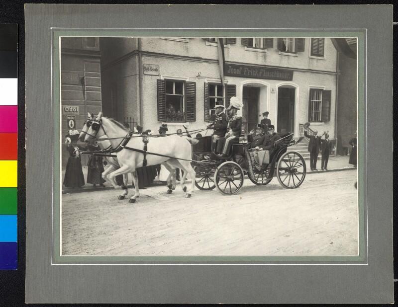 Besuch König Eduards VII. Von England In Hall