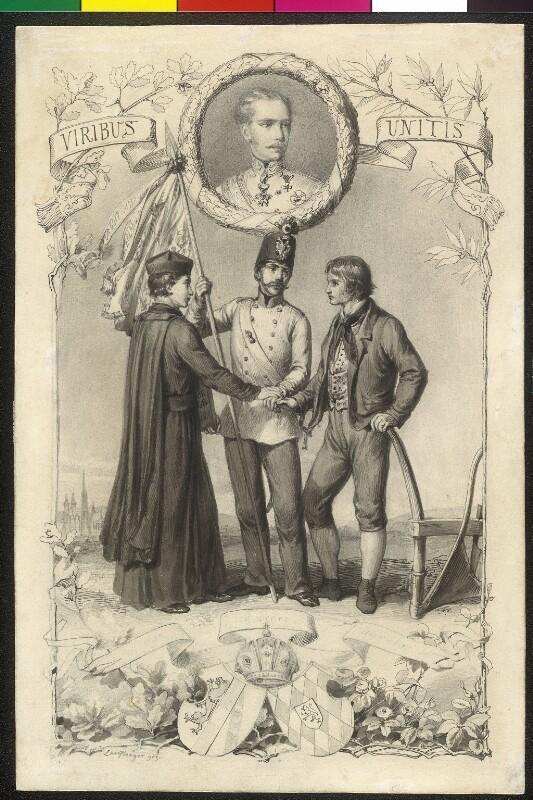 Viribus Unitis - Allegorie auf den Wahlspruch Kaiser Franz Joseph I.