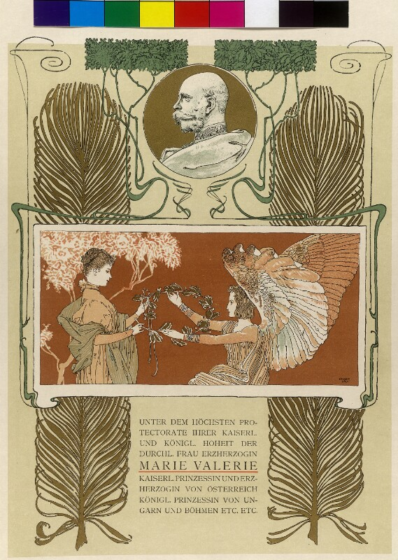 Viribus Unitis. Das Buch vom Kaiser - Protekorenblatt von Moser, Koloman