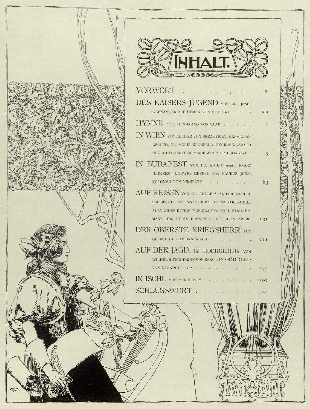 Viribus Unitis. Das Buch vom Kaiser - Inhaltsverzeichnis