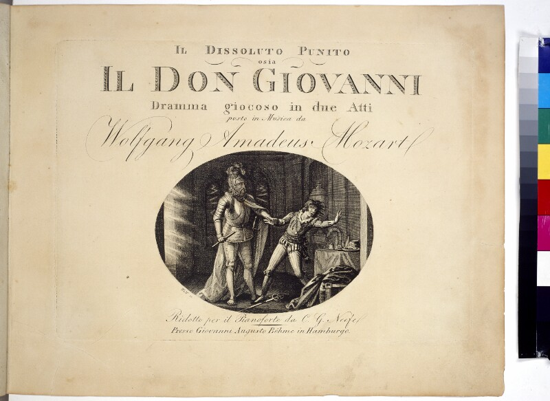 """Titelblatt """"Don Giovanni"""""""
