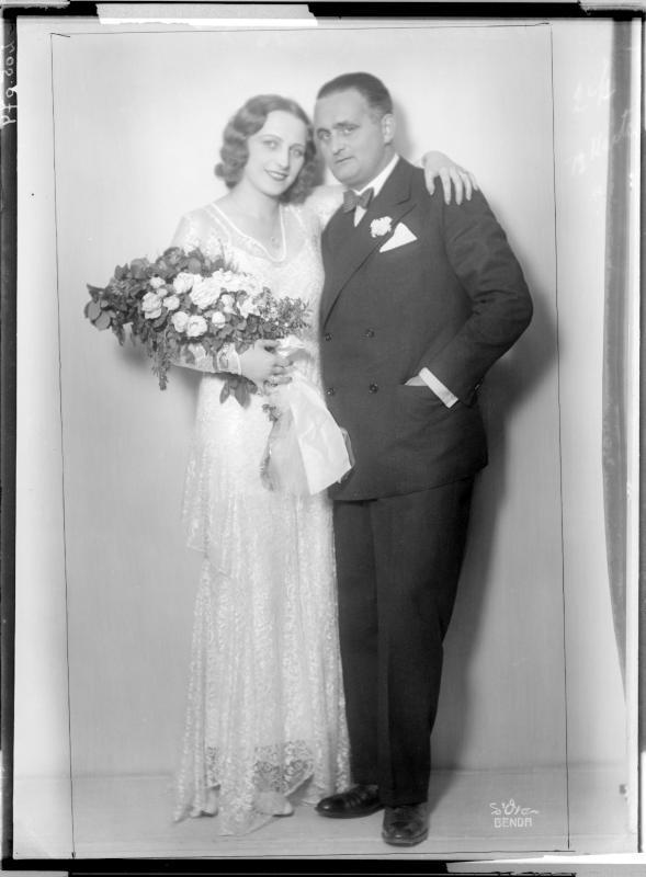 Fritz Imhoff zusammen mit seiner Gattin Hertha von D'Ora-Benda, Atelier