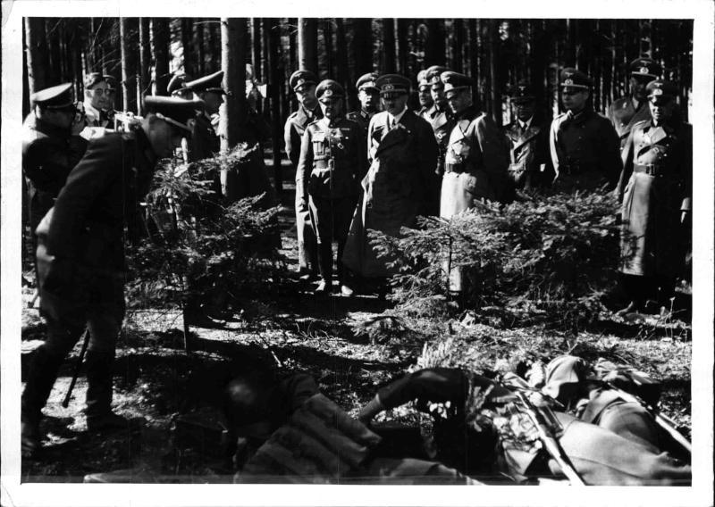 Hitler bei Rekruten in St. Pölten von Weltbild
