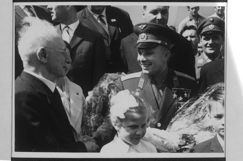 Sowjetischer Kosmonaut Gagarin in Wien 10.5.1962 von Kern, Fritz